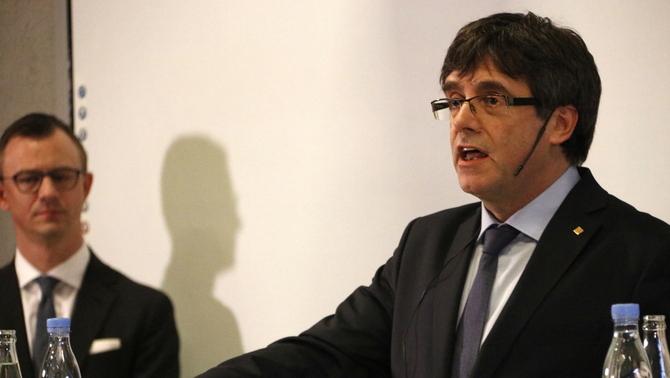 """Conferència de Carles Puigdemont """"Catalunya i Europa, una cruïlla a la democràcia"""" a la Universitat de Copenhaguen"""